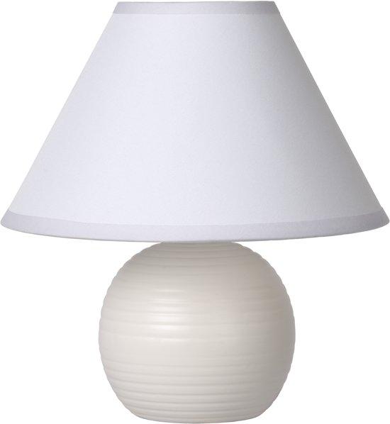 Lucide KADDY - Tafellamp - Ø 20 cm - Wit
