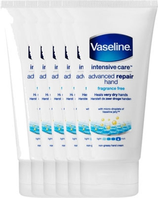 Vaseline Advanced Repair - 6 x 75 ml - Handcrème - Voordeelverpakking