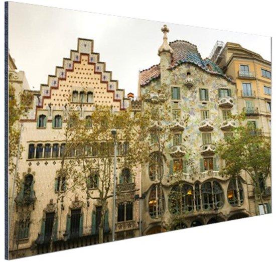Architectuur van Gaudi Aluminium 30x20 cm - Foto print op Aluminium (metaal wanddecoratie)