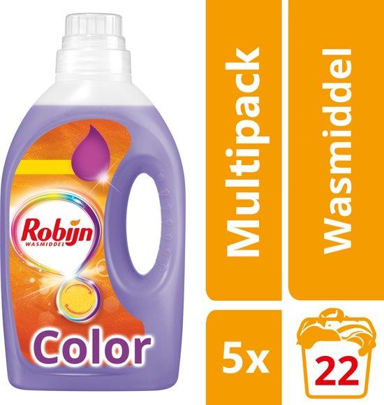 Robijn Vloeibaar Color - 110 Wasbeurten - Wasmiddel - Kwartaalbox