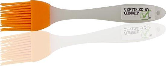 Siliconen bakkwast oranje   BBQ kwast   hittebestendig   vaatwasserbestendig   bak borstel   anti aanbak