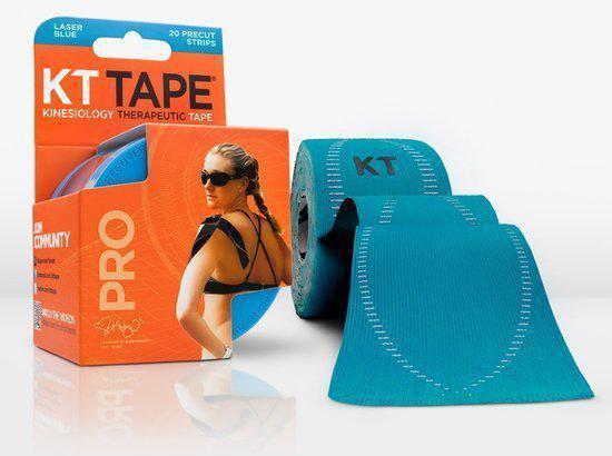 Kinesio Sporttape Kinesiotape KT Tape PRO voorgesneden 5m - Fel blauwe sporttape