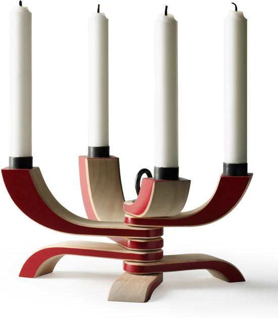 Design House Stockholm Nordic Light 4 kandelaar rood