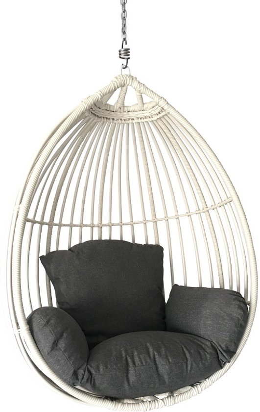 Remarkable Hangstoel Paris Egg Chair Solo White Frankydiablos Diy Chair Ideas Frankydiabloscom