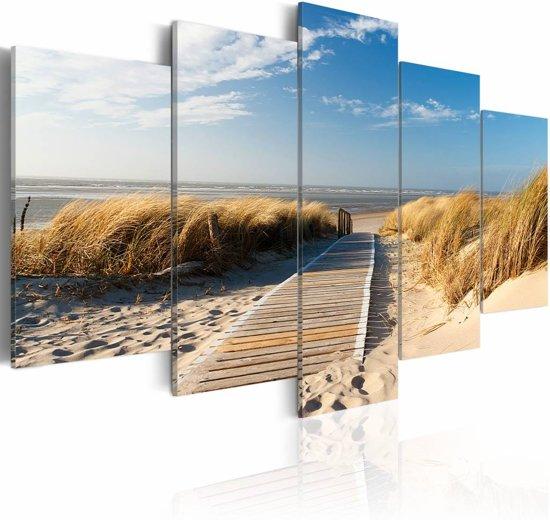 Schilderij - Noordzee, 5luik