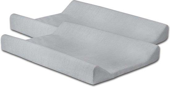 Jollein Waskussenhoes badstof 50x70cm soft grey (2pack)