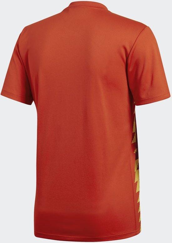 2018 Heren Spanje Adidas Thuisshirt bogold Red wqRwETg