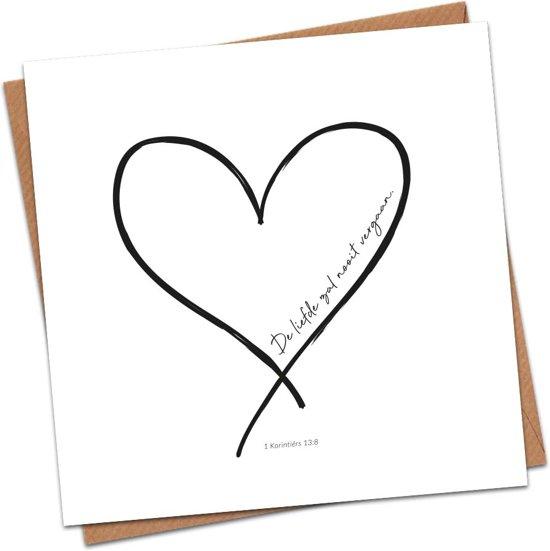 Christelijke Kaart - De Liefde Zal Nooit Vergaan
