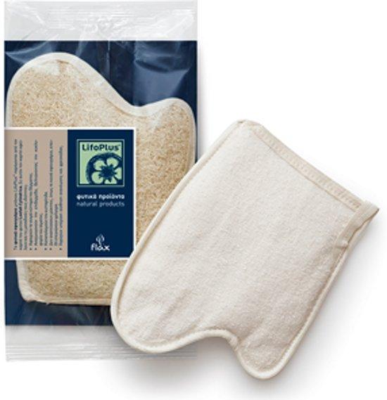 Mythos Loofah Scrub handschoen met Washand - 3 stuks voordeelverpakking