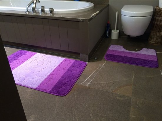 Latex Voor Badkamer : Bol badkamer set brize set bloem lila cm cm