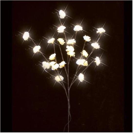 bol.com   Luca Lighting - Tak met kleine crème bloemen met LED ...