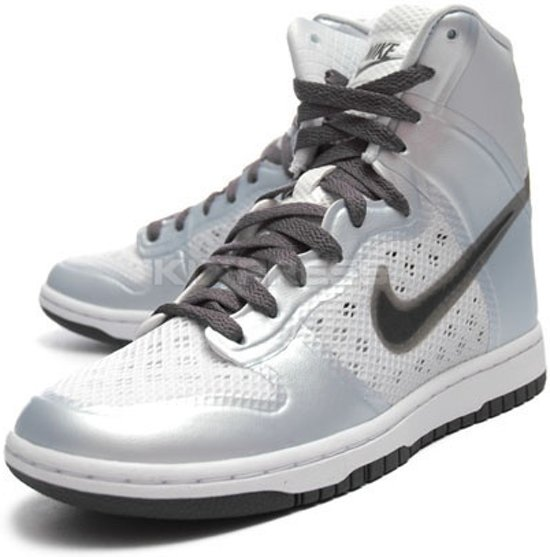 check out af6e1 7aed2 Nike Dunk hi skinny hyperfuse dames sneaker aura dark grey white maat 38,5