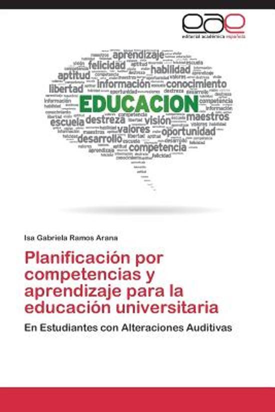 Planificacion Por Competencias y Aprendizaje Para La Educacion Universitaria