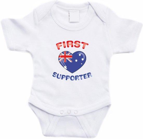 Babykleding 56.Bol Com Wit First Australie Supporter Rompertje Baby Babykleding