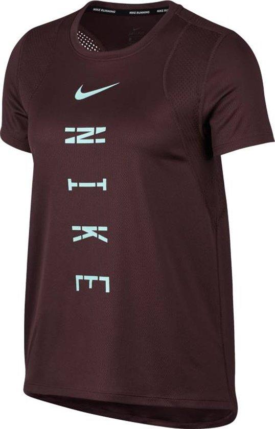 Nike Top Run Gx Sportshirt Dames - El Dorado/El Dorado - Maat XS