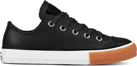 Converse All Stars Kids Leather 661868C Zwart-34