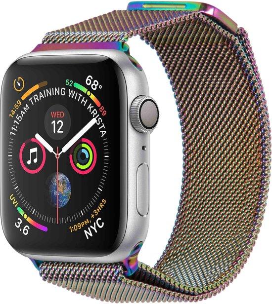 Merkloos Milanees bandje - Apple Watch Series 1/2/3/4 (38&40mm) - Multicolor