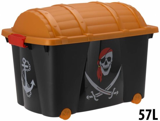 Opbergbox schatkist Piraten - 60 x 40 x 42 - Piratenkist