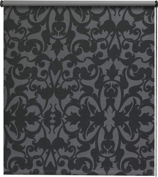 Intensions - Rolgordijn Verduisterend - Dessin - Ornament Donkergrijs/Zwart - 180x190 cm