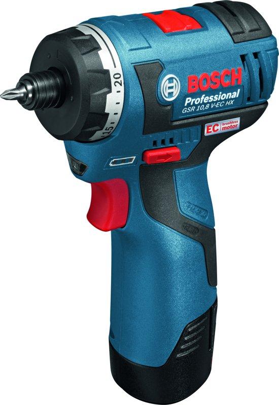 Bosch Professional GSR 12 V-EC HX Accu schroefmachine - 12 V - Inclusief 2 x 2,5 Ah accu's, snellader en L-BOXX