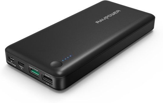 RAVPower 20100mAh Powerbank met Quick Charge 3.0 en USB Type-C Input & Output