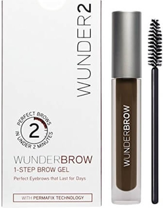 WUNDER2 Wunderbrow Wenkbrauw Gel Black / Brown