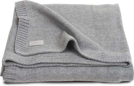 Jollein Natural knit Deken 100x150cm grijs