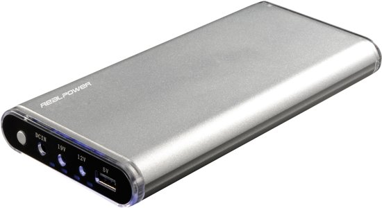 RealPower PB-20.800 - Powerbank 20.800 mAh - Zilver