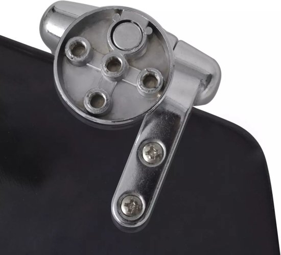 vidaXL WC-bril met soft-close MDF deksel en eenvoudig ontwerp zwart