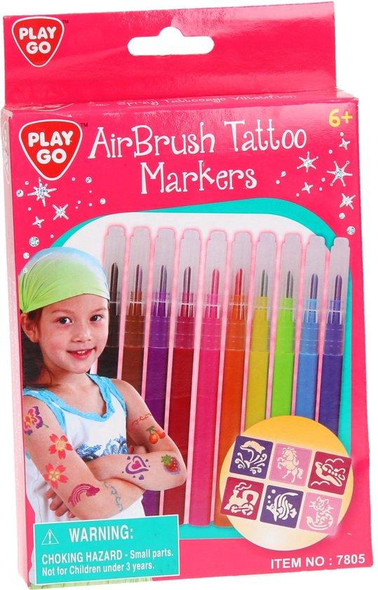 Playgo Air Brush Tattoo Markers 10st