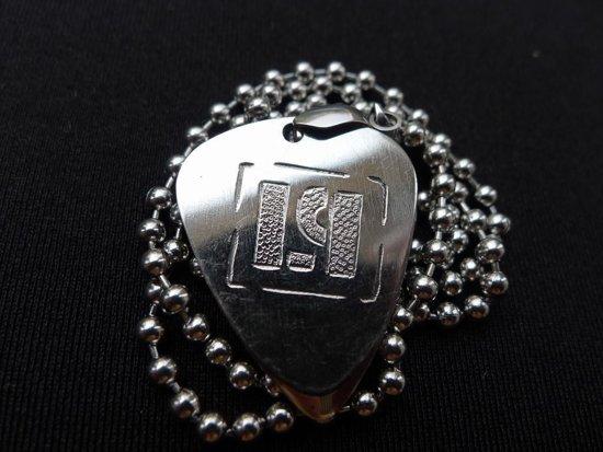 Linkin Park hand gegraveerde RVS plectrum ketting