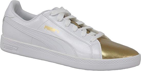 Puma Smash Wns 363611-01, Vrouwen, Wit, Sportschoenen maat: 40 EU
