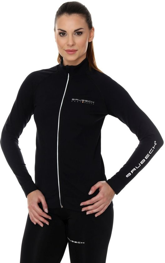 Brubeck | Athletic Dames Active Sportvest - Trainingsjack - Seamless - Zwart - S