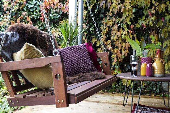 MaximaVida schommelbank 120 cm- voor twee personen- exclusief mahoniehout