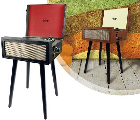 Retro Vintage Staande Platenspeler - Vinyl Pick Up LP Speler - Grammofoon Draaitafel Met Luidsprekers - Zwart