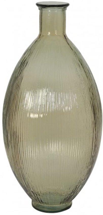 Furnings Vaas Ø29x59 cm BALLOCI glas licht amber