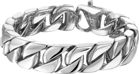 The Jewelry Collection For Men Armband Gourmet 14,3 mm 21,5 cm - Staal
