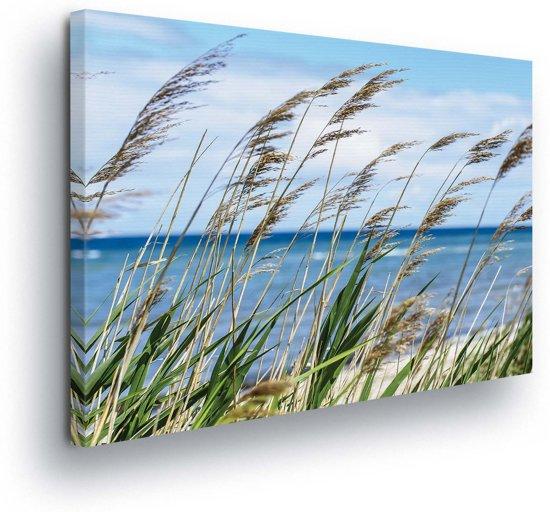 Grass Beach Sea Nature Canvas Print 100cm x 75cm