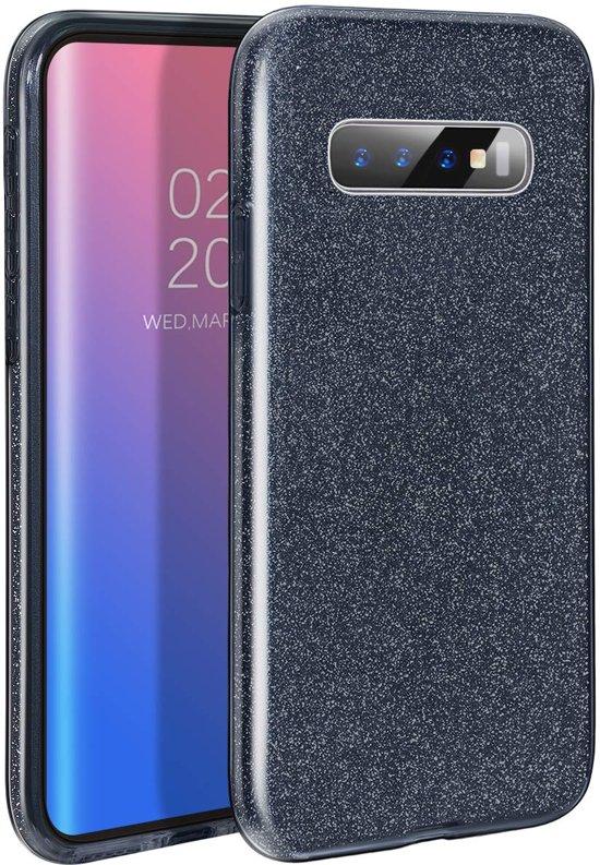 Samsung Galaxy S10 Plus - Glitter Backcover Hoesje - Zwart
