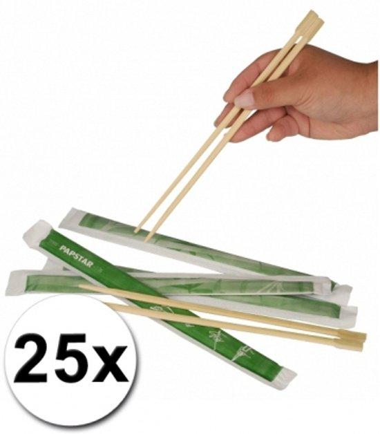 Eetstokjes - 25 Stuks - Bamboe - Bruin