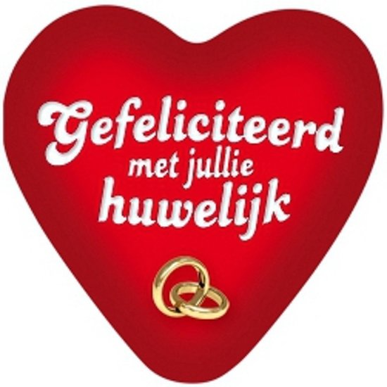 bol.com | Gefeliciteerd met jullie huwelijk decoratie bord 49 cm, Merkloos | Speelgoed