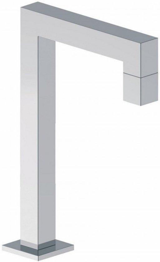 Toiletkraan Kappa Hoekig Laag Vierkant Chroom