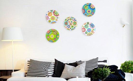 bol.com | Wanddecoratie woonkamer wandborden - POP
