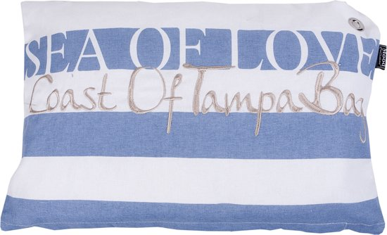 In The Mood Sea Of Love - Sierkussen - 30x45 cm - Faded Blue