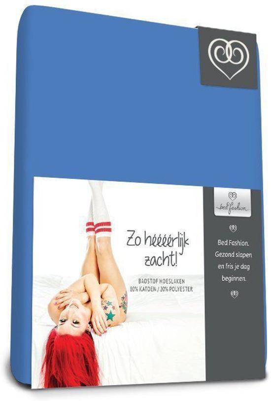 Badstof stretch hoeslaken  Royal Bleu - 180 x 210 cm - Royal Bleu