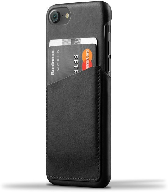 Mujjo Leather Wallet Case for iPhone 7 Black