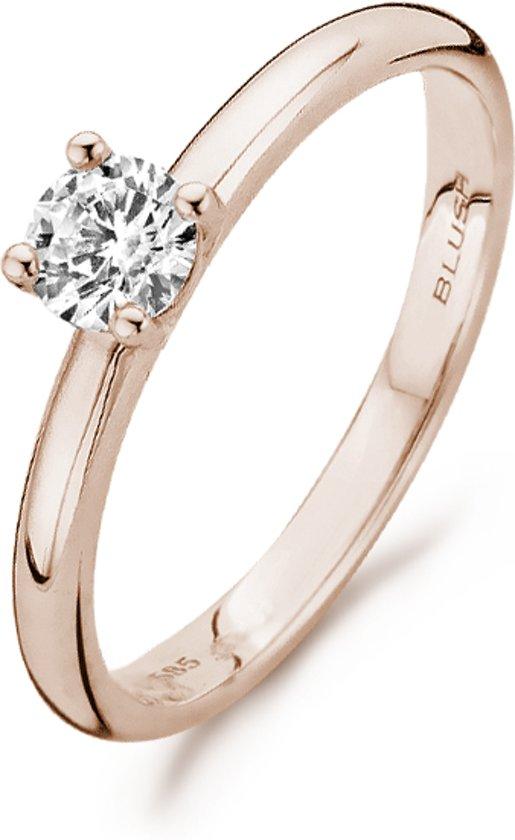 Blush Ring 1133RZI -  Rosé Goud (14Krt.) met Zirconia