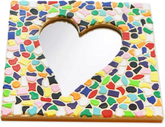 valentijn hart knutselen met een papieren bordje