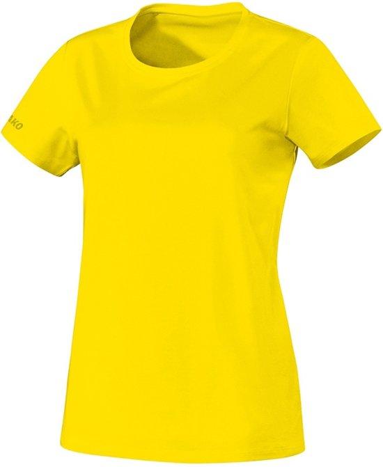 Jako Team Dames T-Shirt - Voetbalshirts  - geel - 38