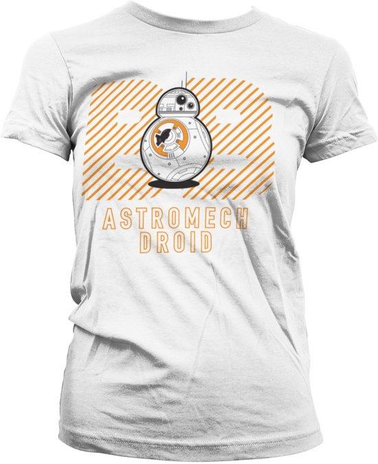 STAR WARS 7 - T-Shirt Astromech Droid Girly White (S)